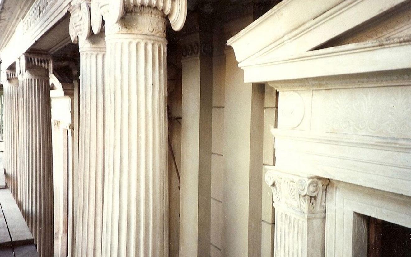 Trieste - Palazzo Kalister un particolare di una facciata